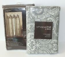 Lot of 2 Chapel Hill by Croscill Countess Sage Tailored Panel Curtains 54 x 63