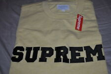 Supreme Collegiate Logo Tee Yellow Tee Size Large/L 100% Authentic ARC Box