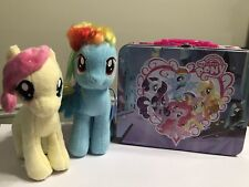 My Little Pony Lot Embossed Tin Lunch Box Plush Dash Fluttershy