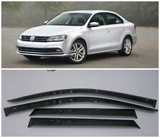 For VW Jetta 6 VI Sd 2011-2017 Side Window Visors Sun Rain Guard Vent Deflectors