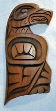 New ListingCarved Wood Eagle Plaque Elliott Quincy Thunder Jones Native British Columbia