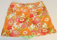 Liz Golf Lizgolf Skirt Skort Size 12 Orange Floral