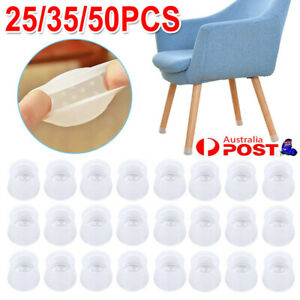 25 /35/ 50X Table Chair Feet Cover Silicon Furniture Leg Pad Floor Protector Cap