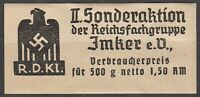 Stamp Germany Revenue WWII Fascism War Era Honey Tax Duty RARE MNG
