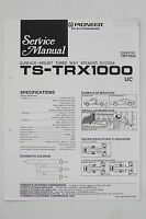 Pioneer ts-trx1000 3 WAY SPEAKER SYSTEM SERVICE MANUAL/Guide/ WIRING DIAGRAM!