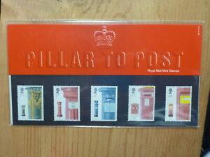 UK GB ROYAL MAIL 2002 PILLAR POST BOXES SET 5 MINT STAMP PACK
