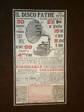 Pubblicità del 1912 Grammofono Pathè Phatefono Italy Ideal