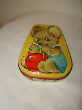 Collectible Blue Bear George W Horner Metal Advertising Tin Empty England Box