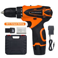 Cordless Drill Driver Set Electric Drill 3/8
