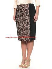 MARINA RINALDI by MAX MARA Lace Front Skirt, size MR 21, USA 12, I 50, D 42,GB16
