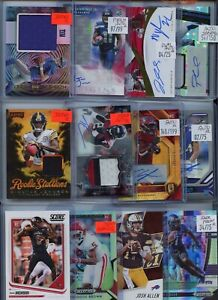 PREMIUM PATCH AUTO JERSEY ROOKIE PRIZM NFL FOOTBALL ROOKIE CARD COLLECTION LOT