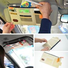 Car Beige Sun Visor Shield Board Storage Bag Phone Card Pocket Organizer For BMW