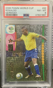 2006 Panini World Cup Ronaldo FOIL #62 PSA 8 NM-MT
