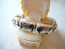 Vintage Sterling Zoo Trip Story Teller Link Bracelet  252865
