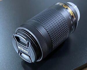 Nikon AF-P DX NIKKOR 70-300mm f/4.5-6.3G ED VR Lens with Nikon HB-77 lens hood