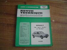 REVUE TECHNIQUE MECANIQUE RTA RENAULT 14 BASE / L / TL / GTL R 1210
