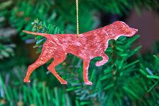 Hungarian Vizsla Copper Christmas Tree Decoration