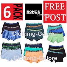 6 PACK x BONDS BOYS TRUNKS Underwear Briefs Shorts Boxes Kids SALE CHEAP BULK