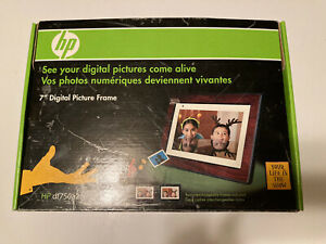 HP DF750 7-Inch High Resolution Digital Picture Frame with WIRELESS Remote. READ