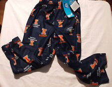 Gen2 Fighting Illini Size 4 Polyester Flannel Navy Print Pajama Pant NWT