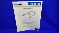 Tektronix P6063B Passive Probe Data Sheet 010-6063-13