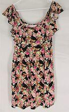 BAND OF GYPSIES MINI DRESS SMALL Floral Boho Hippie Rayon Beautiful Design S