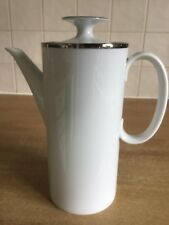 Thomas Platinum / Silver Wide Band Medaillon 2 pt Coffee Pot