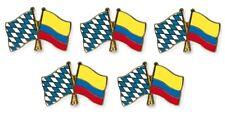 5er Pack Freundschaftspin Bayern - Kolumbien, Pin, Flagge, Anstecknadel