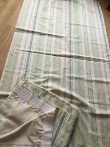 Laura Ashley striped curtains, 88 x 90 inch length