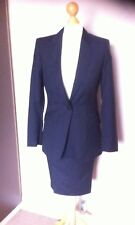 Ladies Aquascutum Skirt Suit/ Navy Grey and Blue Pin strip/ Size 8