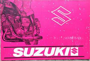 Suzuki T125 Stinger  B100P T350 Rebel T250 Hustler T500 III Motorcycle Brochure