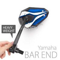 KiWAV ViperII Blue Heavy Weight Bar End Mirrors fit for Yamaha M16 Thread Bar ε