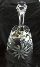 "Vintage Lead Crystal cut glass Bell ,Dinner /bedside bell Height 5.5"" x 2.5"""