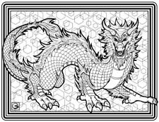 Coloring Page - Dragon # 5 - MAKUI (Hi-Res JPG file will be sent by email)