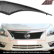 Fits 2013-2015 Nissan Altima Upper Stainless Steel Black Mesh grille insert