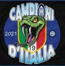 Nuova Spilla INTER 19 SCUDETTO 2020/21 diametro 5,7 cm. Campioni d'Italia snake