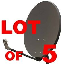 "30"" LOT OF 5 SATELLITE TV DISH FTA ANTENNA T5 97+ 5 LNB"