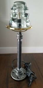 Unique Glass Insulator Lamp