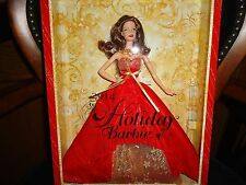 2014 Happy Holiday Barbie Doll Collectors Edition Brunette Hair Kmart NRFB