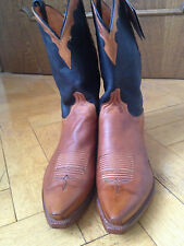 Neue Lucchese Cowboy Western Stiefel Boots Leder cognac/schwarz US 13D EUR 46