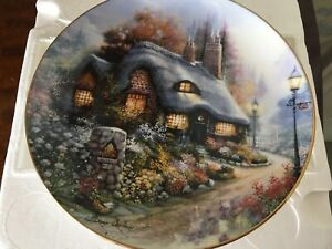 ROYAL DOULTON - THE COTTAGE ON DAISY LANE PLATE - C/W CERT OF AUTHENTICITY