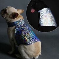 KQ_ Dog Puppy Colorful Reflective Jacket Night Walking Coat Vest Pet Clothes Pre
