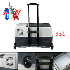 35L Portable Electric Freezer Refrigerator Cooler Ac/Dc Compressor W App Truck