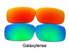 Galaxy Replacement Lenses For Oakley Chainlink Green/Red Polarized 2 Pair