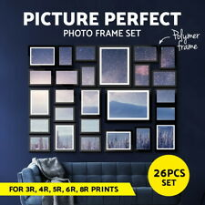 Photo Frames Collage Black Picture Photo Frame Set Home Wall Decor Gift 26 PCS