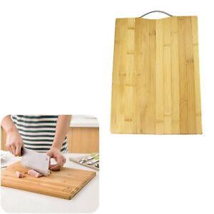 Bamboo Wood Chopping Board Kitchen Dicing Slicing 28CM X 38 CM