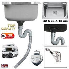 Taps + Bowl Sink + Pop Up Waste Full Kit Motorhome Campervan - SELF BUILD CAMPER