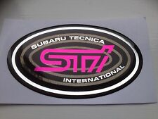 SUBARU IMPREZA STI OVAL WING BADGES X2 PAIR TYPE R TYPE RA SIDE REPEATER BADGES