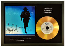 MICHAEL JACKSON 'SMOOTH CRIMINAL' SIGNED GOLD CD DISC COLLECTABLE MEMORABILIA
