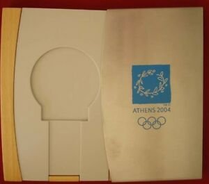 Athens 2004 Olympic Winners Medal Case/box & carton protective case ONLY THE BOX